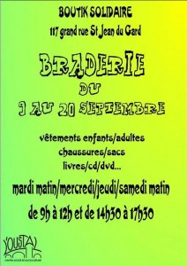 Braderie Boutik Solidaire